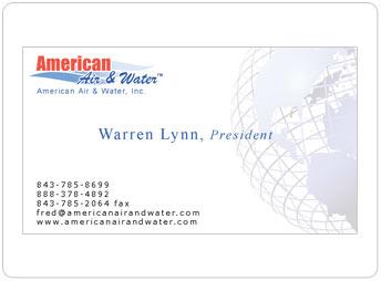 American air water business card design portfolio american air water inc business card colourmoves